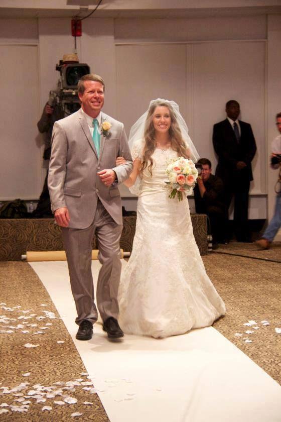 Jim Bob and Jill on her wedding day
