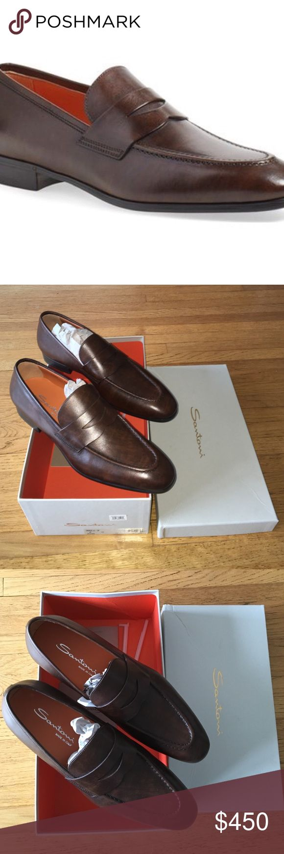 Santoni 'Will' Loafers Brand new, never worn - original certificate of uniqueness and maintenance manual in box. Santoni Shoes Loafers & Slip-Ons