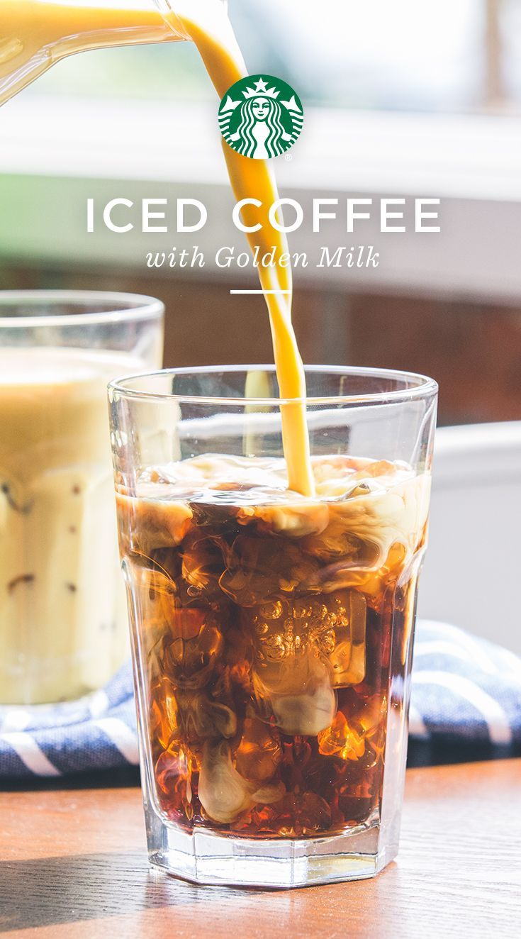 Add Golden Milk To Iced Sumatra For A Subtle Spicy Kick For The Golden Milk Combine Cup Milk Of Your Choice 1 Golden Milk Starbucks Coffee Coffee Recipes