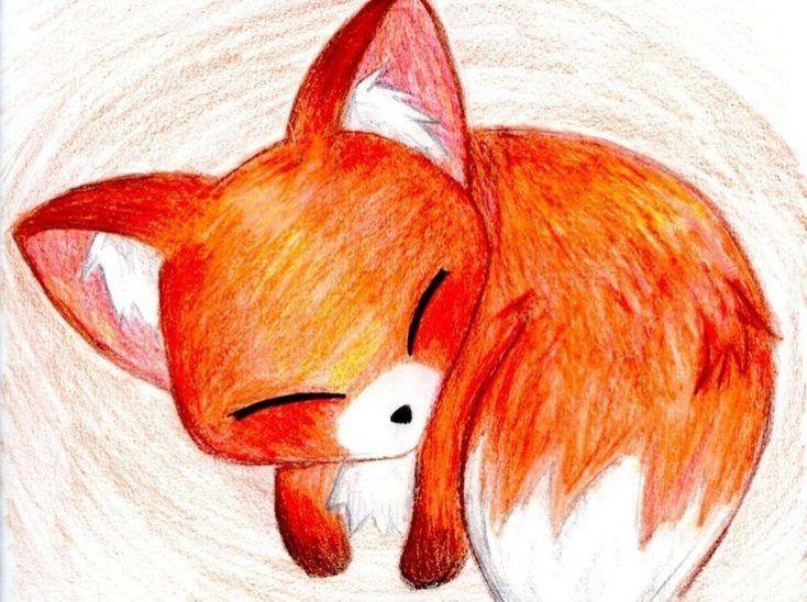 fox arctic anime drawing cartoon drawings step draw pencil fennec easy