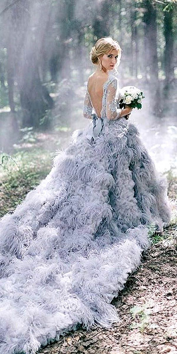 24 Beautiful Feather Wedding Dresses -Trend For 2016 ❤ See more…