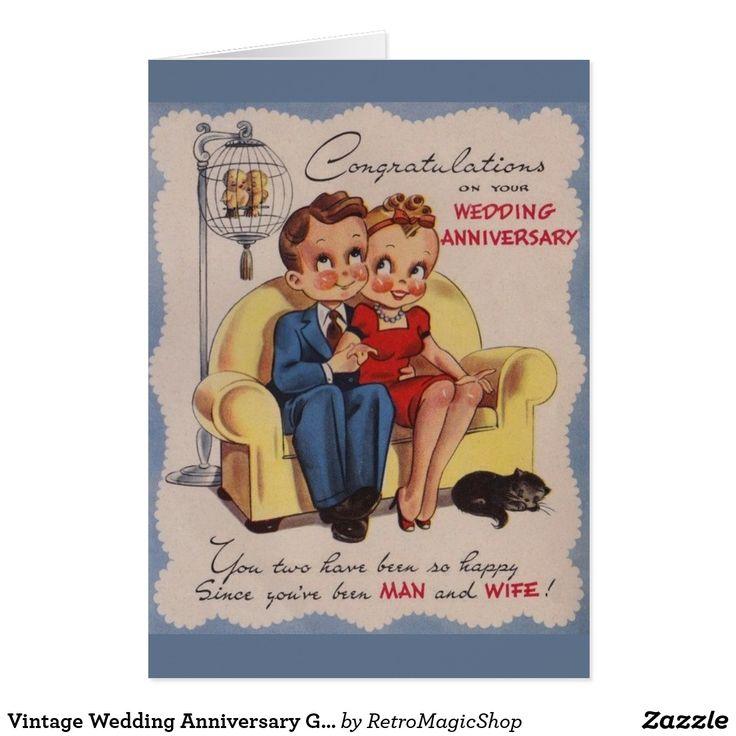 wedding anniversary greeting cardhusband%0A Vintage Wedding Anniversary Greeting Card