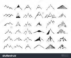 Bildergebnis für Strichzeichnungsberge
