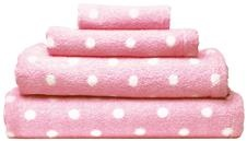 Pink polka dot towels - Cath Kidston