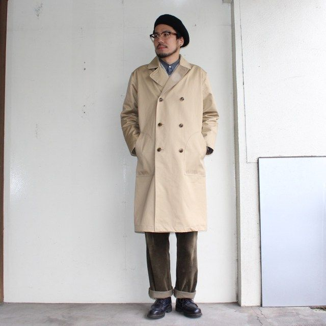 UpscapeAudience ベンタイルロングトレンチコート AUD2848 (BEIGE) | C.COUNTLY | シーカウントリー