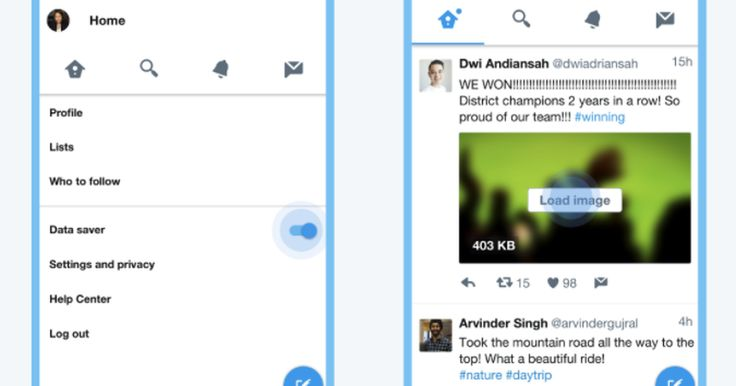 Twitter's stripped-down, data-friendly mobile web app is being tested on Android.
