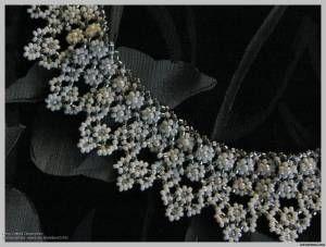 Колье Вальс Кружева - Колье - Схемы - Сокровищница статей - Плетение бисером украшений, деревьев и цветов, схемы мк