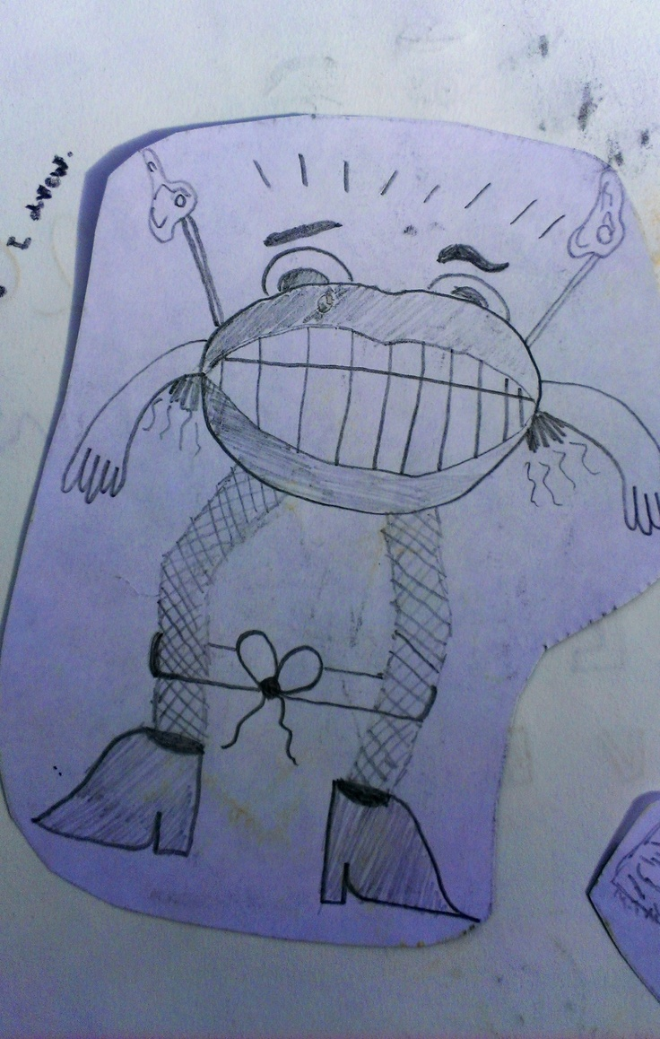 Creature illustration using coloured pencils