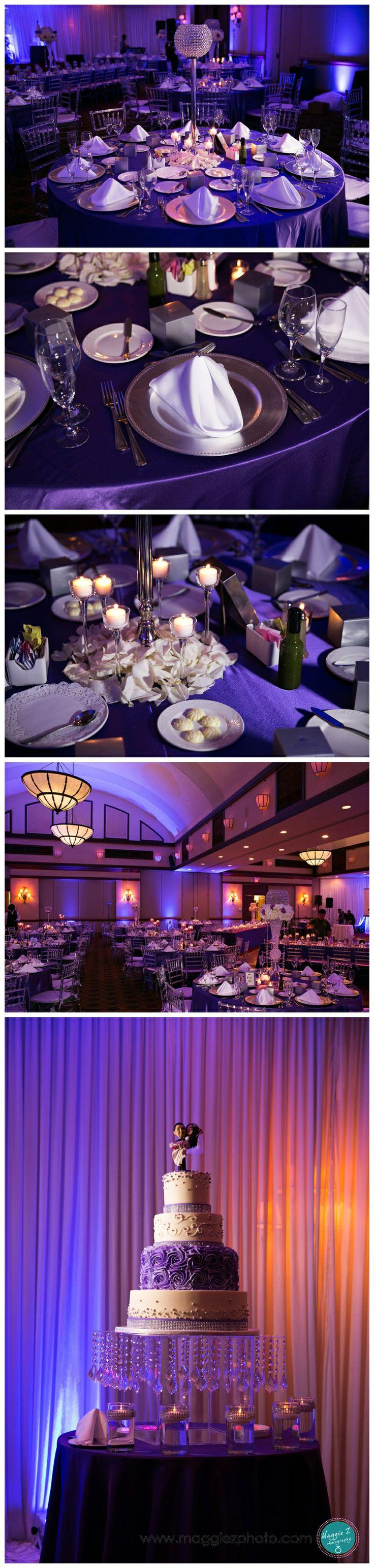 Purple Wedding Decor for Country Club Wedding at Weston ...