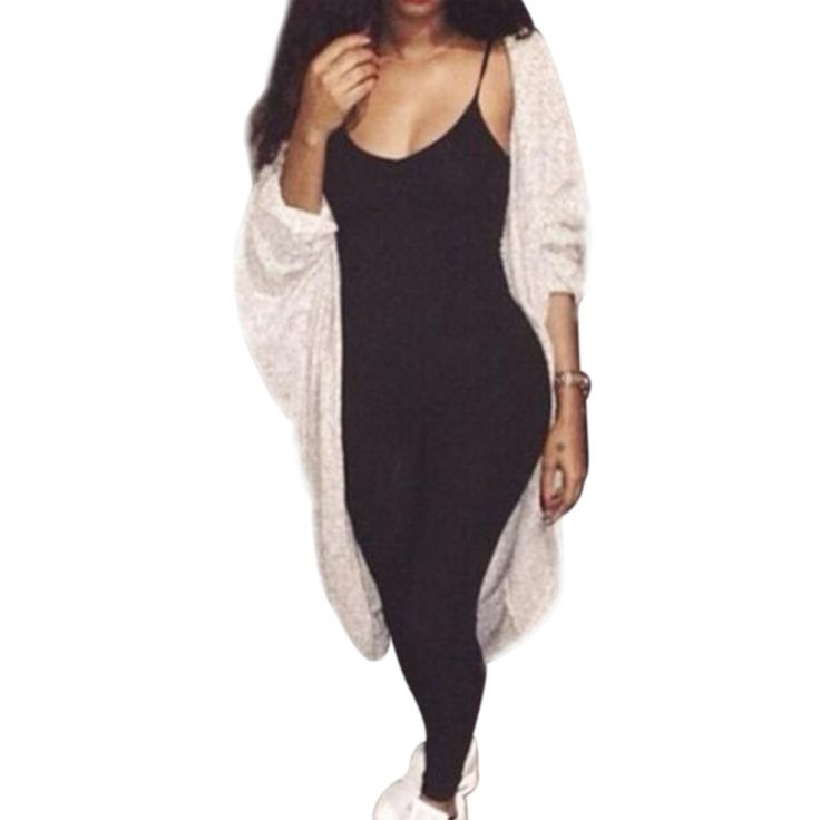 2017 Summer Black Jumpsuit Sexy Body Suits For Women Bodycon Fitness Strap Playsuit Long Pants Romper Overalls Body Femme