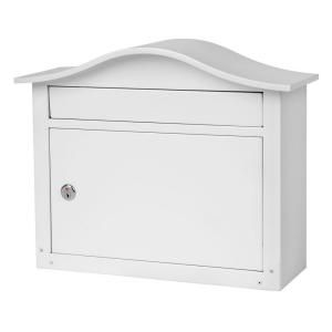 Architectural Mailboxes, Saratoga White Wall-Mount Lockable Mailbox, 2550W-10 at The Home Depot - Mobile