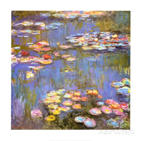 Water Lilies, 1916 Art by Claude Monet at AllPosters.com