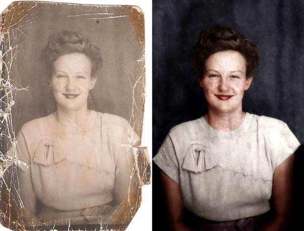 A neat look at photo restoration and colorization demonstrated through a time-lapse video. #photography # timelapse