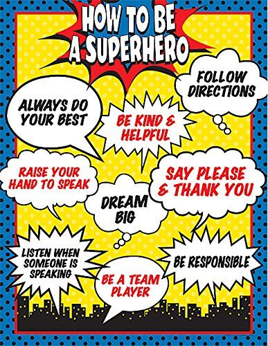 Teacher Created Resources How To Be a Superhero Chart (7550) Teacher Created Resources