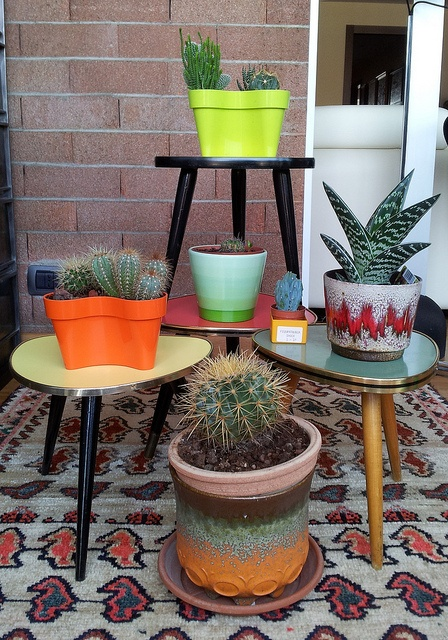 German tables and fat lava planters,70's by J'adore Lava Fat, via Flickr
