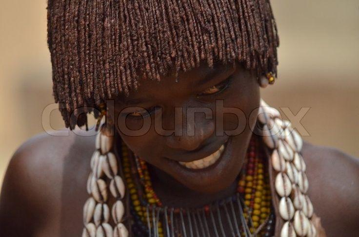 Editorial image of 'Hamer tribe girl'