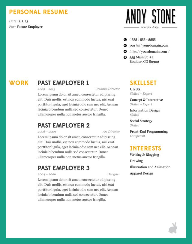how to make resume eye