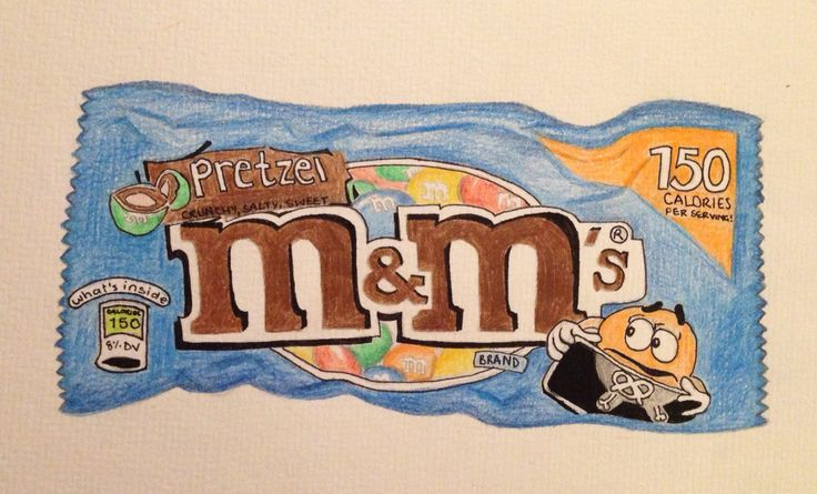 M&m's packet✍