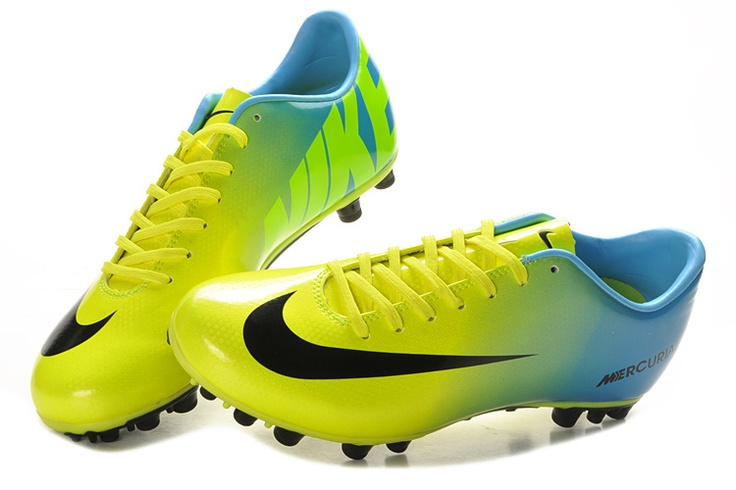 Nike Mercurial 2013 Victory IX 9 AG Volt Cyan Green Blue Black Nike Soccer Shoes 2013