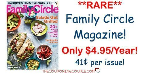 **RARE* Magazine Deal at an AWESOME PRICE! Grab Family Circle Magazine for only $4.95/year! Only $0.41 per issue!  Click the link below to get all of the details ► http://www.thecouponingcouple.com/family-circle-magazine-only-4-99year-two-days-only/ #Coupons #Couponing #CouponCommunity  Visit us at http://www.thecouponingcouple.com for more great posts!