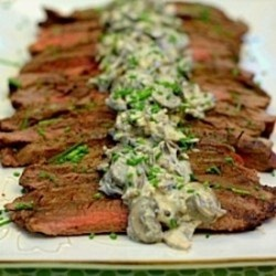 Grilled Flank Steak Creamy Mushroom | Yummy in my Tummy! | Pinterest