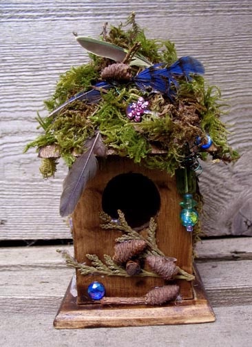 Fairies like to collect things, especially sparkly ones, & they use them to adorn their little houses. If you have lost a precious ring or perhaps a glimmering gemstone necklace, look around the fairy houses. It can probably be found there. If you ask nicely, they might even give it back
