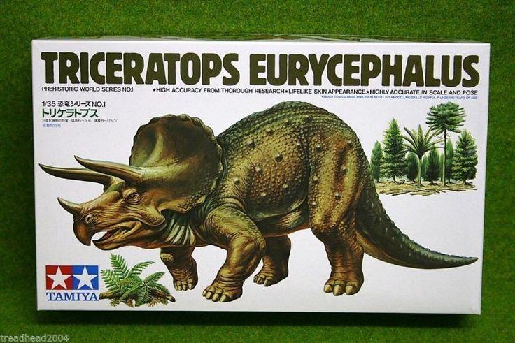 Triceratops Eurycephalus Dinosaur Tamiya 1 35 Scale Kit 60201 | eBay