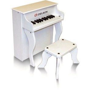 Piano droit enfant blanc delson 25 touches - Achat / Vente piano Piano droit enfant blanc - Cdiscount