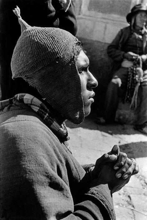 Sergio Larrain - Bolivia, 1957. Border of Lake Titicaca. Copacabana Sanctuary. Blind.