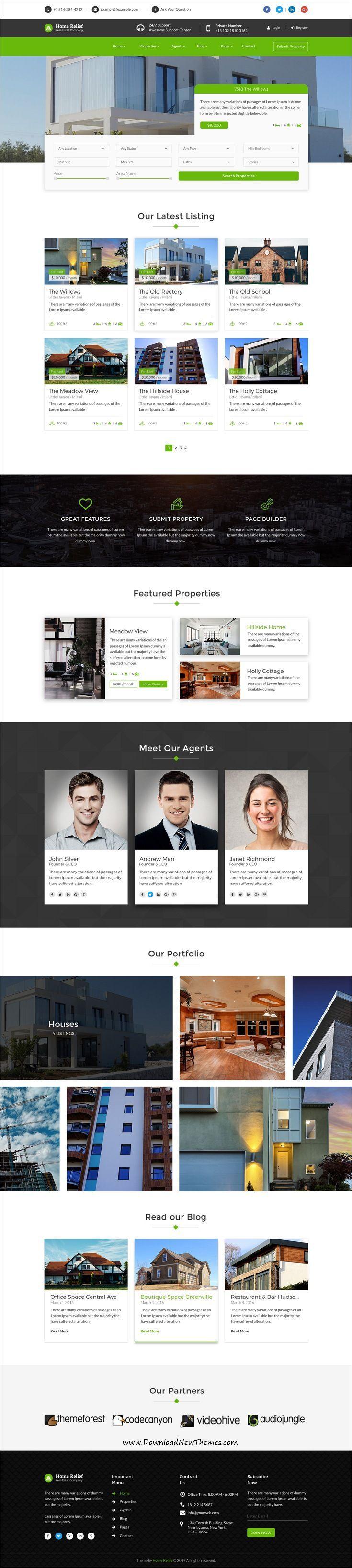 Die besten 25+ Immobilien webseite vorlagen Ideen auf Pinterest ...