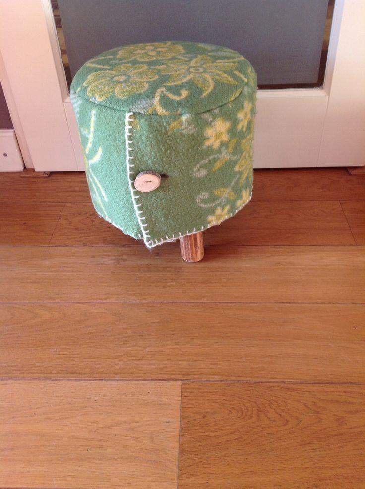 Krukje bekleed met wollen deken