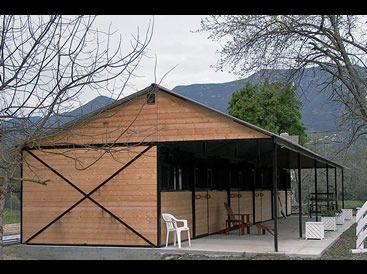 Shedrow Horse Barn