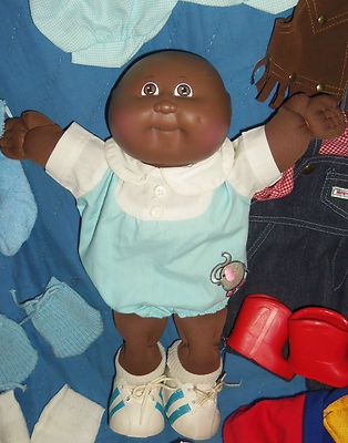 Vintage 1984 Bald Black Boy Cabbage Patch Kid Doll With