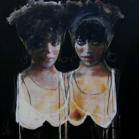 Esther Erlich  Smoulder - 2013   Acrylic on canvas   92 x 92 cm