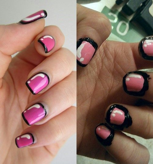 749 best nail art galore images on pinterest creative use nail polish with a thin brush a nail art pen a prinsesfo Gallery