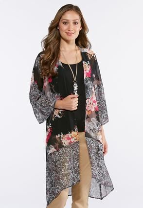 bd4d4953bee3c Cato Fashions Plus Size Garden Floral Kimono  CatoFashions