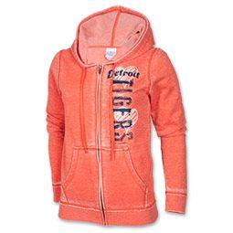 NEED this.  Women's New Era Detriot Tigers MLB Burn Wash Full-Zip Hoodie| FinishLine.com | Orange