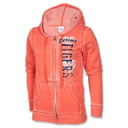 NEED this.  Women's New Era Detriot Tigers MLB Burn Wash Full-Zip Hoodie | FinishLine.com | Orange