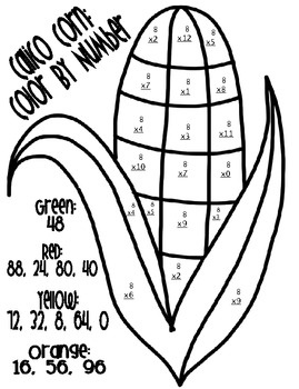 Thanksgiving Math Color By Number Tpt Math Lessons Pinterest - Turkey-math-coloring-pages