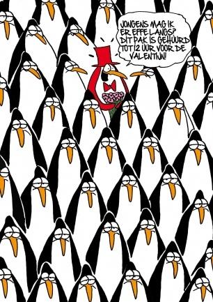 Valentijn Pinguin. Jongens mag ik er even langs :-D