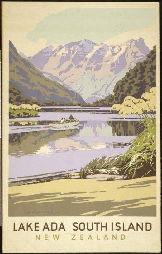 NEW ZEALAND TOURISM POSTERS, 1930s www.mydentaltourism.com