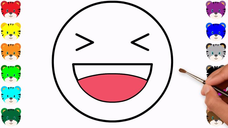 happy emoji drawing and coloring - colouring pages for