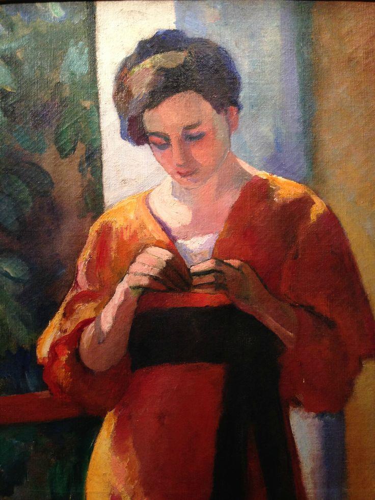 Henri Manguin (1874-1949)  was een Franse schilder, fauvisme. Matisse en Charles Camoin waren goede studie vrienden. Hij werd sterk beïnvloed door het impressionisme , zoals is te zien in zijn gebruik van heldere pastel tinten.Veel van zijn schilderijen waren van mediterrane landschappen; deze vertegenwoordigde het hoogtepunt van zijn carrière als Fauve kunstenaar.