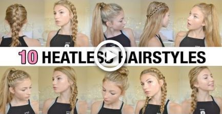10 Hairstyles without heat back to school Heat hairs school 8230;+#back_to_… – Back To School