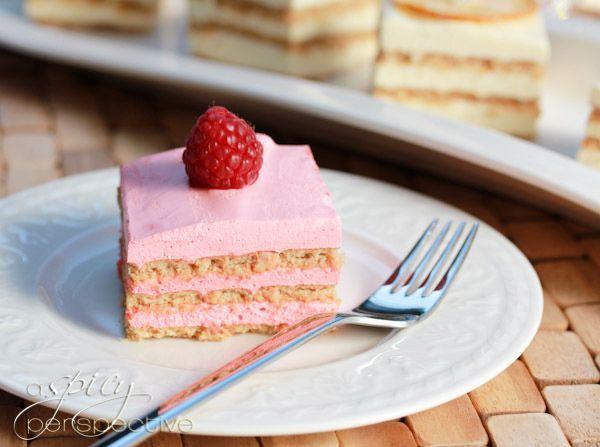 Layered Jello Mousse Cake Recipe Divine Desserts Pinterest