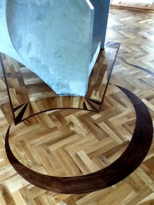 Half Moon with Oak Mosaic Parquet flooring fitted by MM Parquet Flooring & Carpentry Service, Ireland