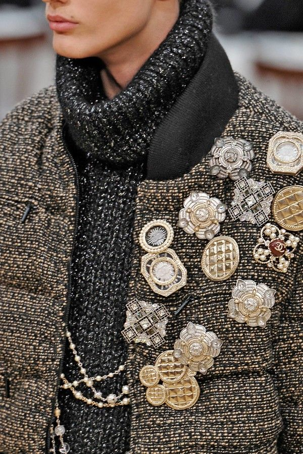 I was doing this 4 years ago...I think Chanel copied...ha!   Chanel brooch assortment