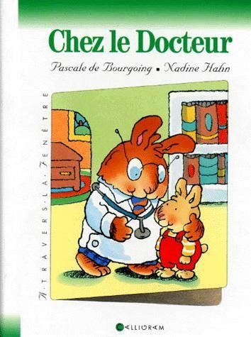 CPRPS 31997000838847 Chez le docteur. Le docteur Ciboulette va ausculter Lucas Lapin. Pour cela, il a besoin d'une toise, d'une balance, d'un stéthoscope, d'une lampe, d'une seringue... A l'enfant de trouver les instruments.