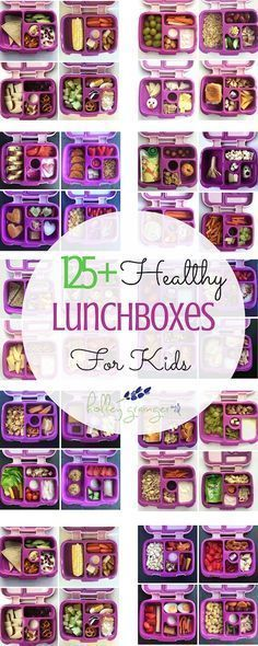 125+ Healthy Lunchboxes for Kids -- practical, doable, and delicious! Created by Holley Grainger Nutrition for Ellie and Frances