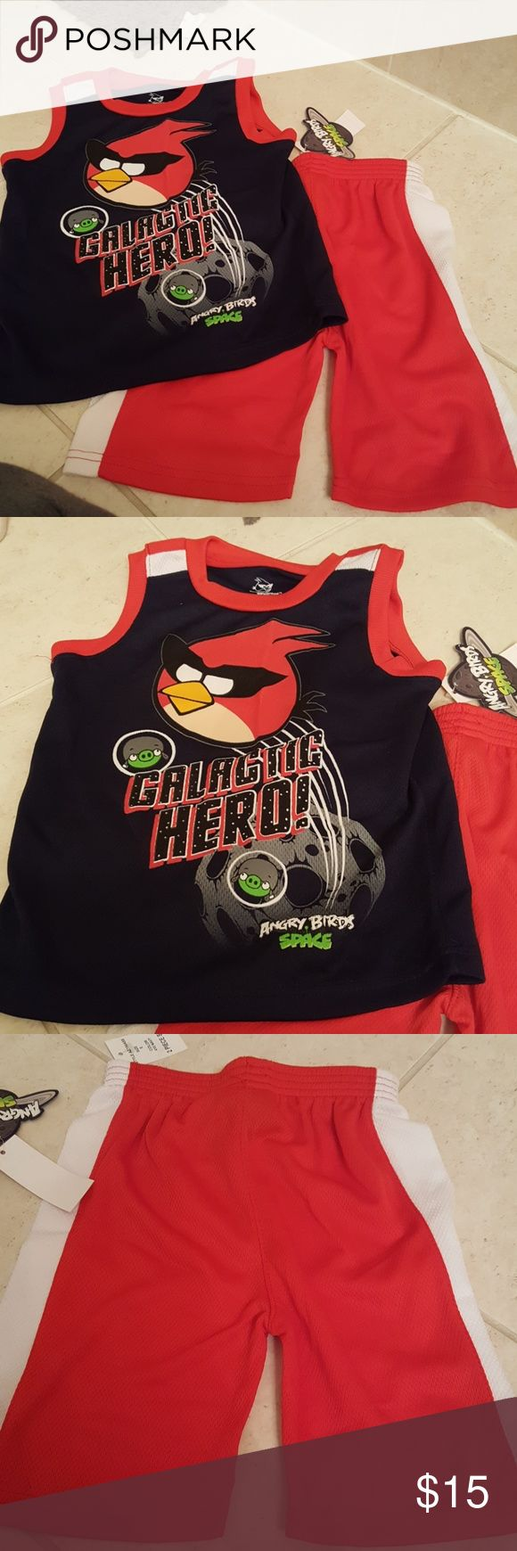 Boys Angry Bird tank and shorts set. size 5. NWT. Boys Angry Bird tank and shorts set. size 5. NWT. Angry Birds Matching Sets